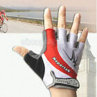 Fashion Red Cycling Bike Bicycle Wearable Sports Half Finger Glove Shockproof