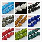 24pcs Handmade Glass Heart Spacers 16mm 9colors-1 P372-P381