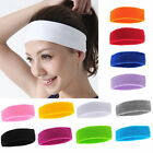 Womens Mens Yoga Gym Sports Sweat Sweatband Stretch Headband Head Band Hair Band