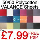 Plain Dyed VALANCE Sheets 50/50 PolyCotton Bed Sheet Single Double King