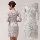 Vintage Lace Half Sleeve Homecoming Cocktail Evening Party Short Prom Dress 2-16