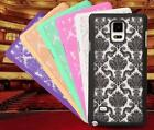Colorful Carving Flower Slim PC Hard Case Cover Skin For Samsung Galaxy S5 S6