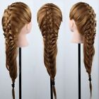 Lady Long Hair 100% 90%Real Human Hair Training Mannequin Head Hair Salon Female