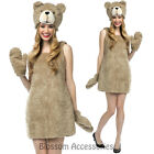 CL479 Ladies Ted Dress Licensed Teddy Bear Fancy Dress Up Adult Costume Outfit