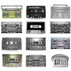 BBUM0154 RETRO CASSETTE TAPE CLASSIC DJ BOOM BOX RADIO MUSIC ALLOY BELT BUCKLE