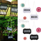 """""""Mr & Mrs"""" """"BRIDE"""" Funny Letter Garland Banner Wedding Party Photography Props"""