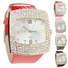 Women's Watch Quartz Leather Crystal Wristwatch Dial Rhinestone Fashion Watches