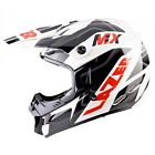 LAZER MX8 GEOPOP PURE GLASS MOTOCROSS MX OFF ROAD HELMET WHITE BLACK RED