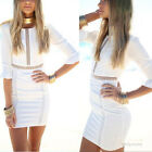 Womens Sexy Summer Bodycon Hollow Casual Evening Cocktail Party Short Mini Dress