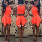 Womens Sexy Asymmetric Bodycon Party Dress Jumpsuit Romper Playsuit Clubwear