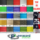 550 Paracord Rope Mil Spec Type III 7 Strand Parachute Cord - 100 Feet