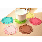 Flower Hollow Out Silicone Placemat Table Mat Pad Cup Bowl Holder Coaster 6Color