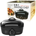 8-IN-1 BLACK MULTI COOKER BAKE FRY SLOW COOK STEAMER BOIL ROASTER DEEP FAT FRYER