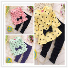 2PCS Baby Kids Bowknot Top+ Pants Set Clothes Girls Cute Floral Size 1-4 Years
