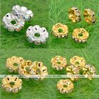 Wholesale 100x Clear Crystal Wave Spacer Loose Beads Charms Findings Jewelry DIY