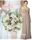 BNWT FEARNE Cappuccino Strapless Chiffon Bridesmaid Dress UK Sizes 6 - 18