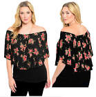 16-22 BLACK SPANISH DANCER PINK ROSE FLOWER GYPSY FITTED HIP LONG TOP +NECKLACE