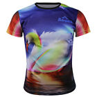 Swan Quick-drying Sports Cycling Jersey 3D T-Shirt Round Top Tops Tee CC3034