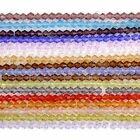 Strand Multi-color Crystal Glass Bicone Spacer Loose Beads Charm Fit Jewelry DIY