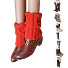 Women Leg Warmers Rhombus Crochet Boot Cuffs Socks Knitted Leg Warmers For Boots