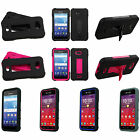 2-Layer V Stand Cover Case For KYOCERA T-Mobile MetroPCS C6740 C-6740 Hydro Wave