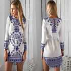 New Sexy Women Long Sleeve Party Dress Ladies Evening Cocktail Casual Mini Dress