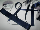 Berisford Double faced Satin Ribbon Wedding - NAVY 13 - 3mm to 35mm & 4 Lengths