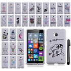For Microsoft Nokia Lumia 640 XL Art Design PATTERN HARD Case Phone Cover + Pen