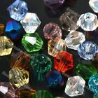 300X Mixed Colors Rhinestone Crystal Glass Bicone Loose Charm Beads DIY 3mm 4mm