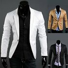 2015 Men's Casual Formal Business Slim Custom Fit Blazer Coat Suit Jacket XS-M