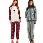 Ladies Womens Twosie PyjamaS  Set Loungwear Nightwear Winter Warm Fleece PJ