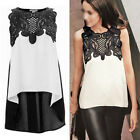 Sexy Women Summer Casual Sleeveless Chiffon Vest T-Shirt Party Evening Tops
