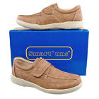 Mens New Tan Lightweight Velcro Comfortable Leisure Smart Casual Shoes 6 - 12