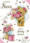 cute niece happy birthday card - 15 x cards to choose from