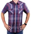 NEW LEVI'S MEN'S CLASSIC COTTON CASUAL BUTTON UP PLAID INDIGO RED 3LYSW6102