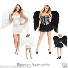 A308 Black or White Adult Feather Large Wings Angel Halloween Costume Accessory