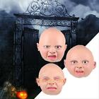 Full Head Mask Angry Happy Baby Latex Scary Halloween Prop Cosplay Party Costume