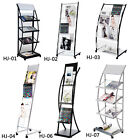 ZNL Magazine Book Paper File Holder Literature Storage Stand Rack With Wheels