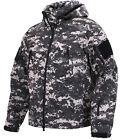 military tactical soft shell jacket subdued digital camo waterproof rothco 98701
