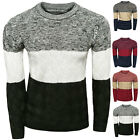 Classic Autumn Winter Chic Color Patchwork Round Neck Knit Bottoming Sweater