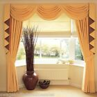 """SWAGS & TAILS SETS,LONG TAILS + CURTAINS FITS 90"""" to 105"""" (229-267cm) x 89' Drop"""