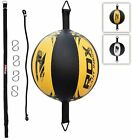RDX Leather Double End Dodge Speed Ball MMA Boxing Floor to Ceiling Punch Bag KJ