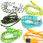 BRAIDED LIGHTNING Sync Data Cable USB Charger for APPLE iPHONE 6 PLUS 5 5S 5C