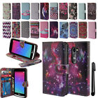 For LG Leon C40 H326 L22C Flip Wallet LEATHER Skin POUCH Case Phone Cover + Pen