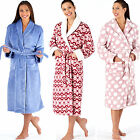 Ladies Womens Coral Fleece Bath Robe Dressing Gown Wrap Housecoat Warm PLUSH