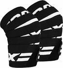 RDX Knee Wraps Weight Lifting Bandage Straps Guard Pads Sleeves Powerlifting Gym <br/> RDX Pro Series Advance Wrist Straps Used by Top UK Gyms