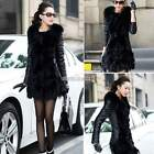 Women Winter Faux Fox Fur PU Leather coat for women Black colour M-XXXL Hot Sale