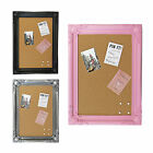 Large Modern Chic Framed Cork Pin Board / Memo Notice Board – For Home Office