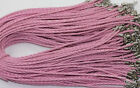 5-50Pcs Leather Braid Rope Hemp Cord Lobster Clasp Chain DIY Necklace Bracelet