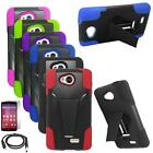 Phone Case For LG Tribute / LG Transpyre Rugged Cover Stand USB Charger Film